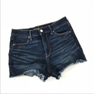 Abercrombie & Fitch Cut Off Shorts Size 25 Dark